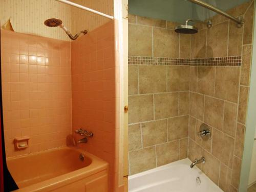 Which portland home remodel jobs bring back the most home for Before and after small bathroom makeovers